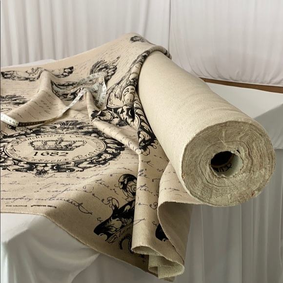 Rustic Look Linen Upholstery Fabric !